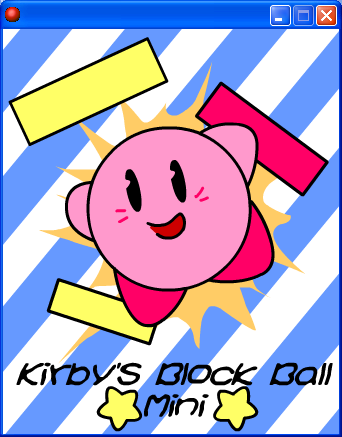 Kirby's Block Ball Mini Title